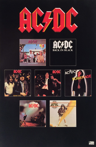ac dc poster 1980 at wolfgang 39 s. Black Bedroom Furniture Sets. Home Design Ideas