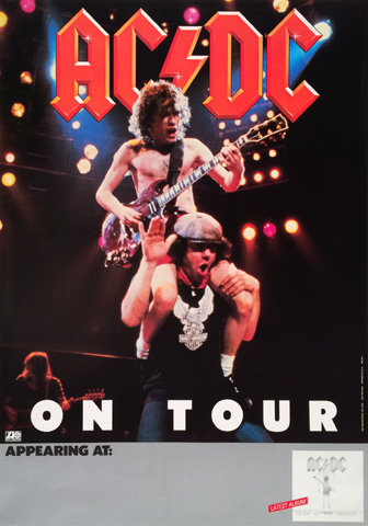 ac dc poster 1983 at wolfgang 39 s. Black Bedroom Furniture Sets. Home Design Ideas
