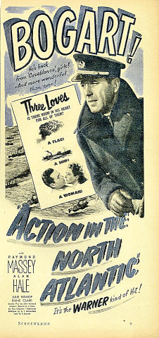 Action In The North Atlantic Vintage Ad