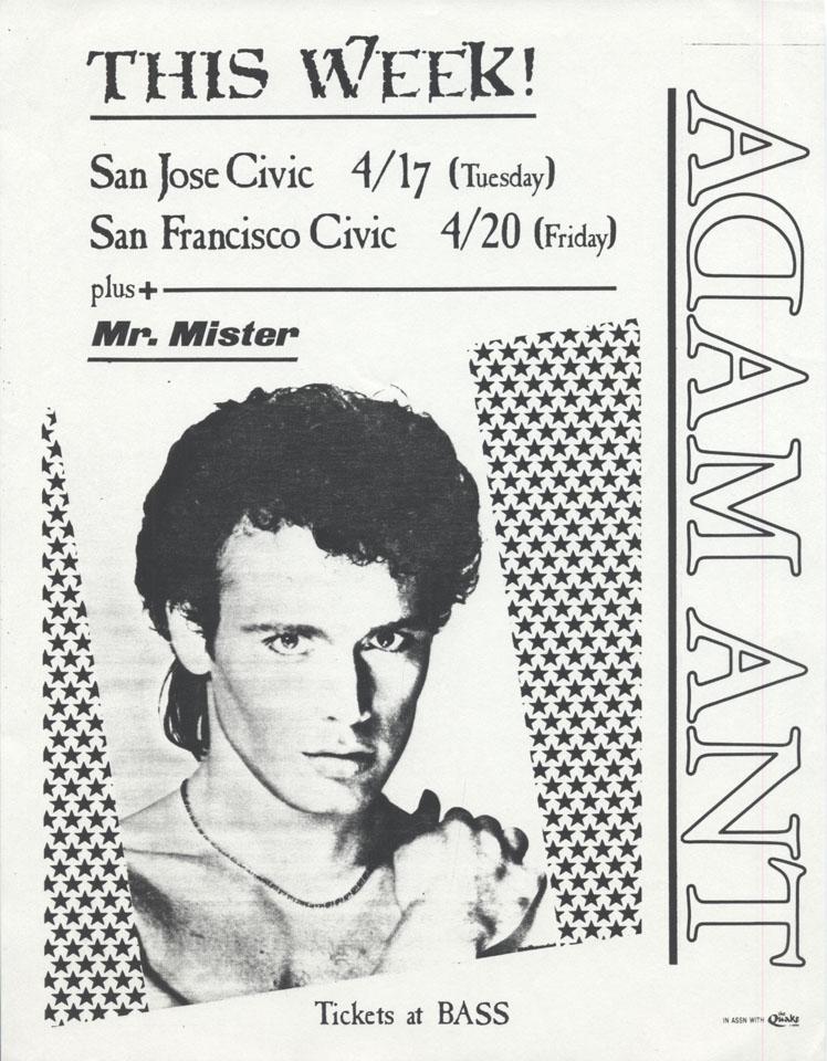 Adam Ant Handbill