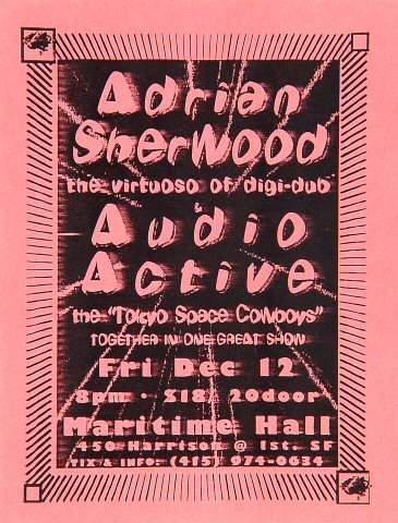 Adrian Sherwood Handbill