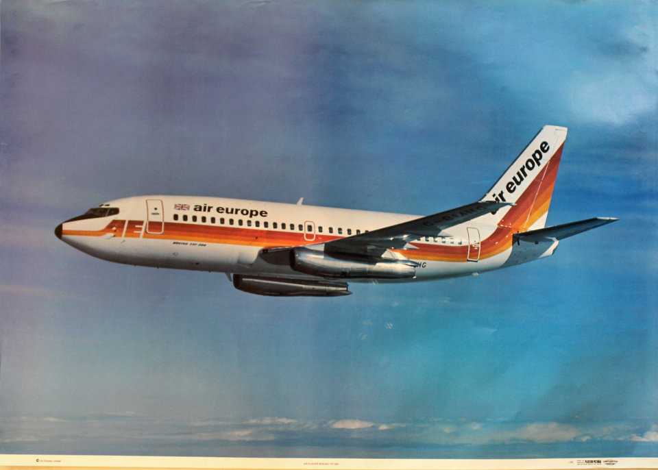 Air Europe Boeing 737-200 Poster