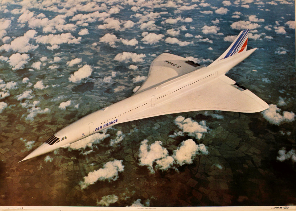Air France Concorde F-BVFA Poster