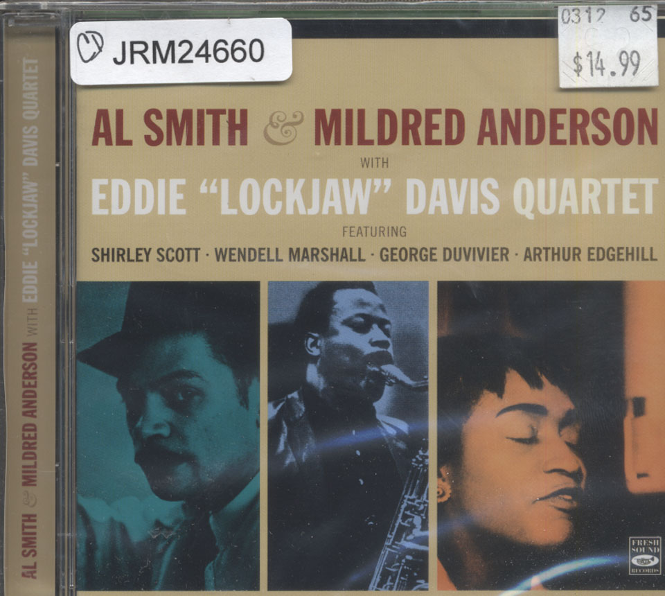 "Al Smith & Mildred Anderson With Eddie ""Lockjaw"" Davis Quartet CD"