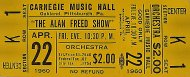 Alan Freed Vintage Ticket