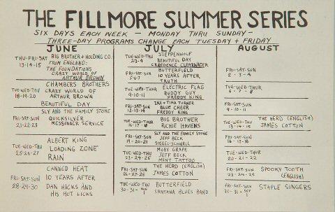 Albert King Handbill reverse side