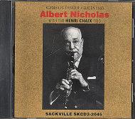 Albert Nicholas & Henri Chaix Trio CD