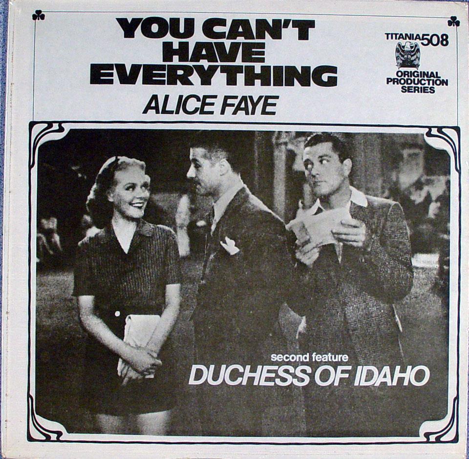 "Alice Faye Vinyl 12"" (New)"