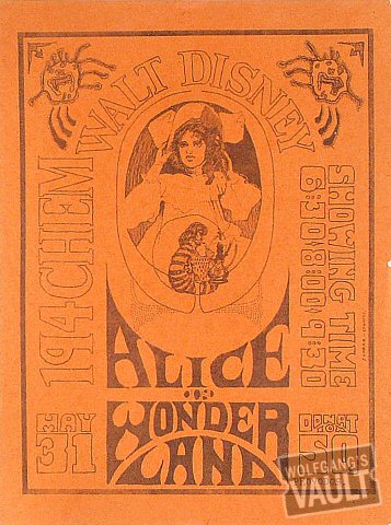Alice in Wonderland Handbill