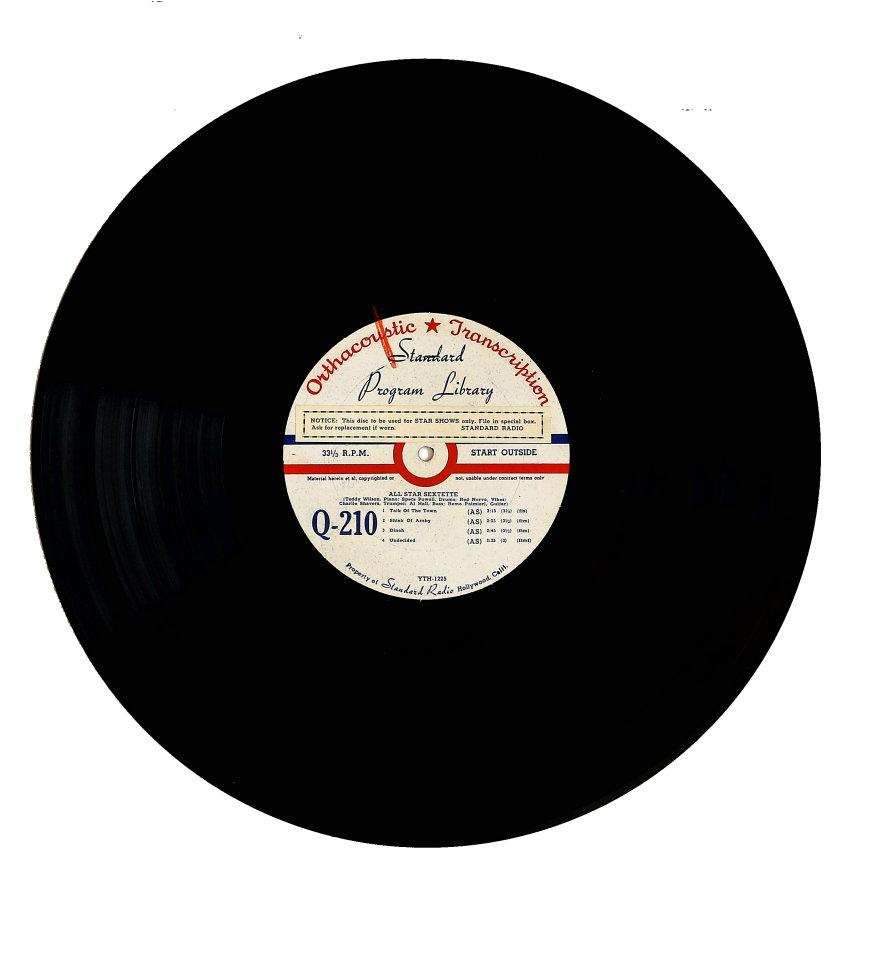 """All Star Sextette Vinyl 16"""" (Used)"""
