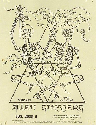 Allen Ginsberg Handbill