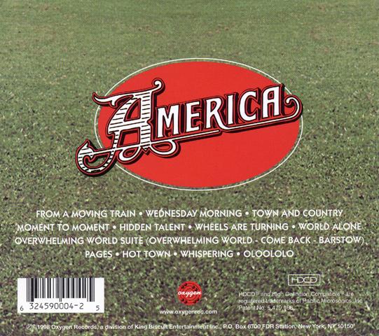 America CD reverse side