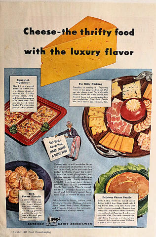 American Dairy Farmers: Cheese - The Thrifty Food Vintage Ad