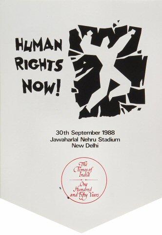 Amnesty International Benefit Handbill reverse side