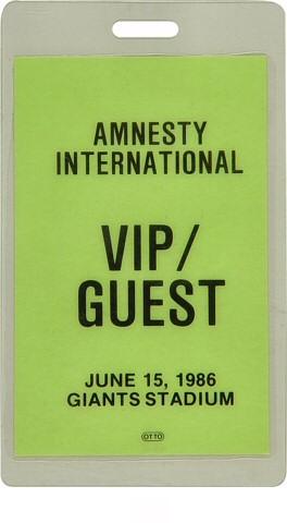 Amnesty International Benefit Laminate reverse side
