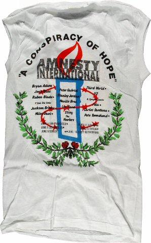 Amnesty International Benefit Men's Vintage T-Shirt reverse side