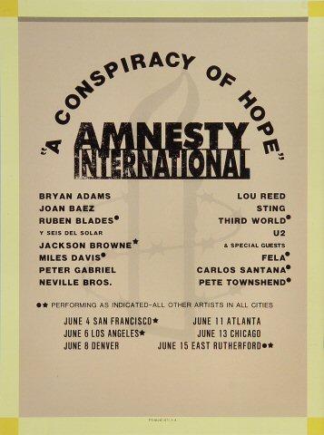 Amnesty International Benefit Program reverse side