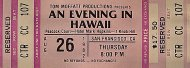An Evening In Hawaii Vintage Ticket