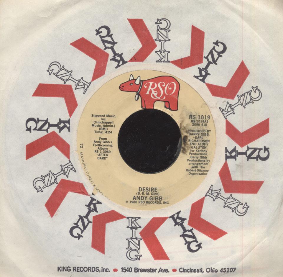 """Andy Gibb Vinyl 7"""" (Used)"""