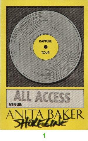 Anita Baker Backstage Pass