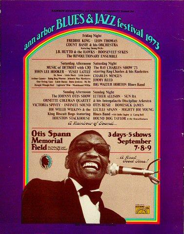 Ann Arbor Blues and Jazz Festival Program reverse side