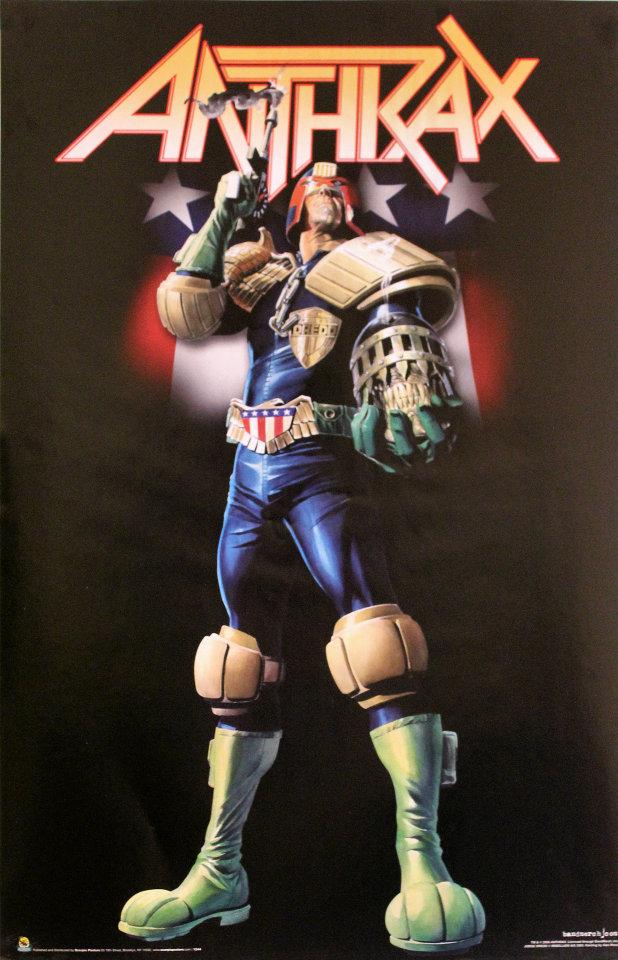 Anthrax - Judge Dredd Poster