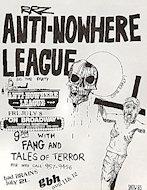 Anti-Nowhere League Handbill