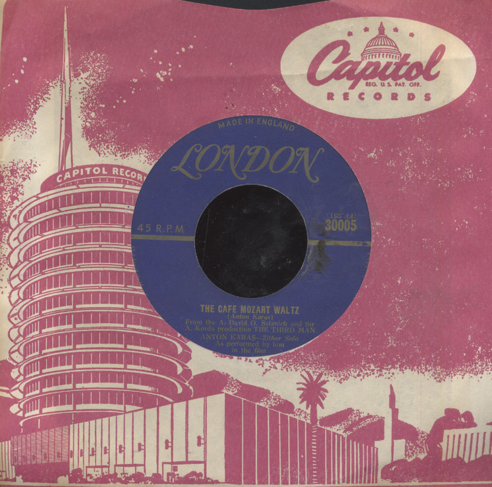 "Anton Karas Vinyl 7"" (Used)"