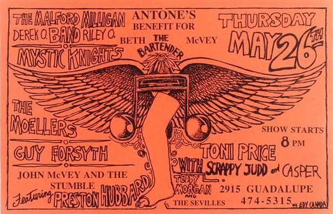 Antone's Benefit for Beth McVey Poster