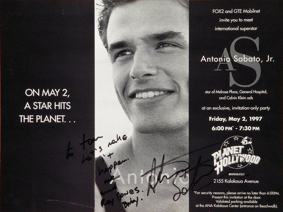 Antonio Sabato, Jr. Handbill