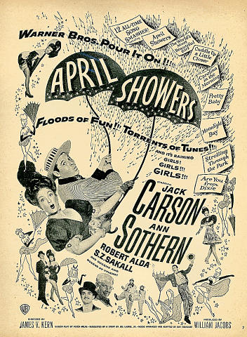 April Showers Vintage Ad