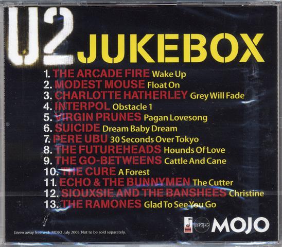 Arcade Fire CD reverse side