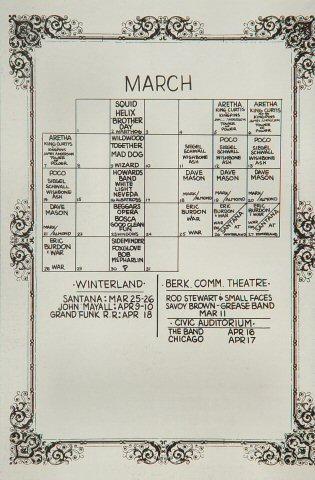 Aretha Franklin Handbill reverse side