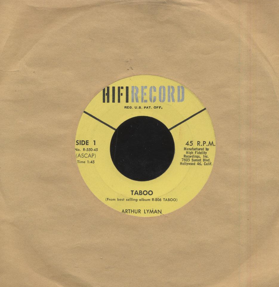 """Arthur Lyman Vinyl 7"""" (Used)"""