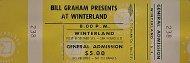 At Winterland Vintage Ticket