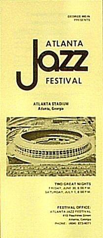 Atlanta Jazz Festival Program
