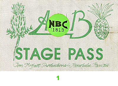 Average White Band Backstage Pass