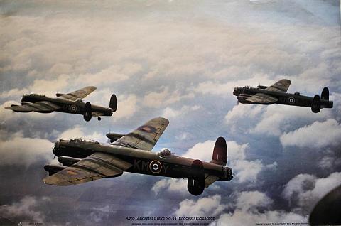 Avro Lancaster B1s of No. 44 (Rhodesia) Squadron Poster