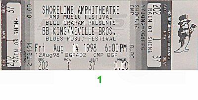 B.B. King Blues Festival Vintage Ticket