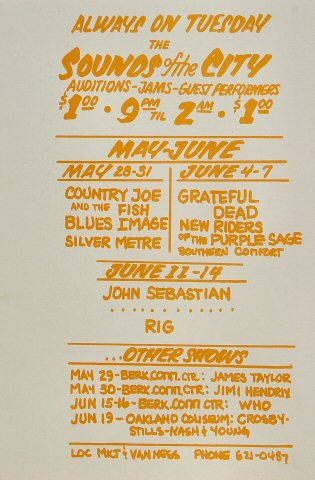 B.B. King Handbill reverse side