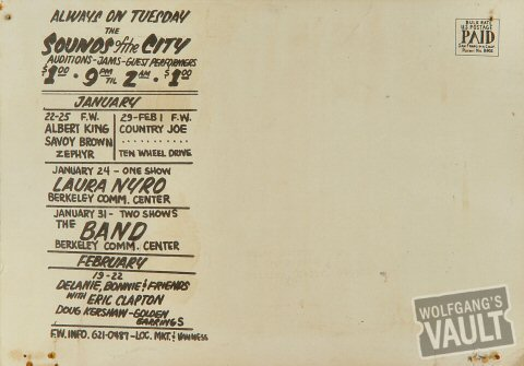 B.B. King Postcard reverse side