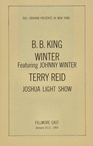 B.B. King Program reverse side