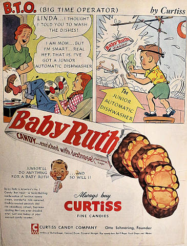 "Baby Ruth: BTO ""Big Time Operator"" Vintage Ad"