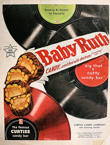 "Baby Ruth: ""Dig That Nutty Candy Bar"" Vintage Ad"