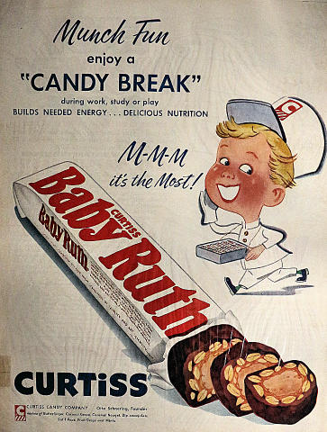 Baby Ruth: Munch Fun Vintage Ad