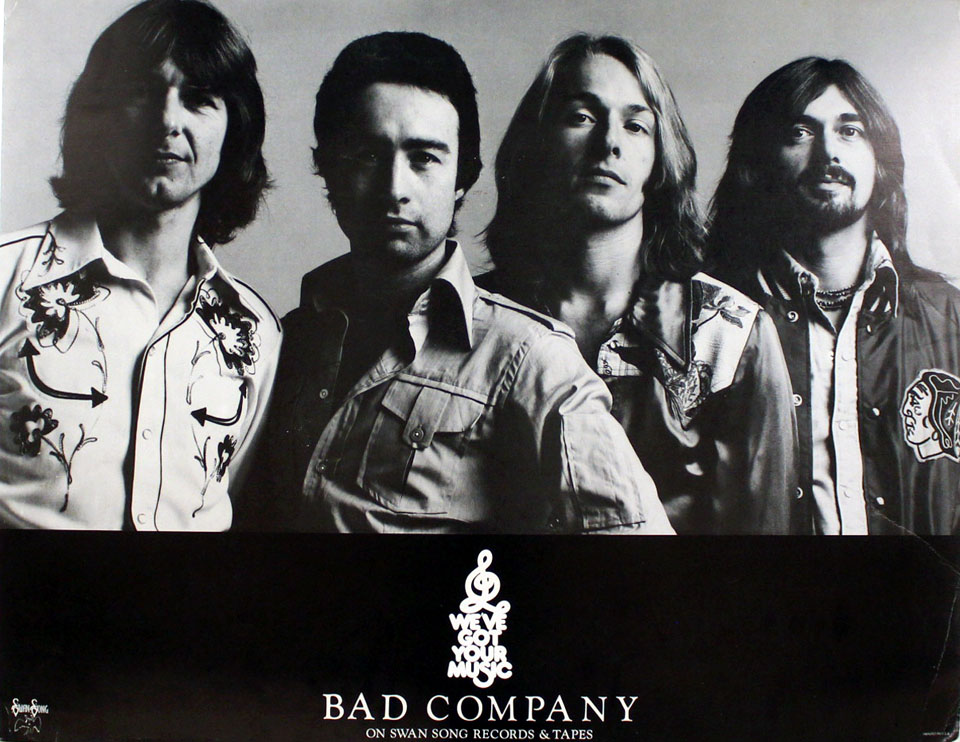 bad company poster 1977 at wolfgang 39 s. Black Bedroom Furniture Sets. Home Design Ideas