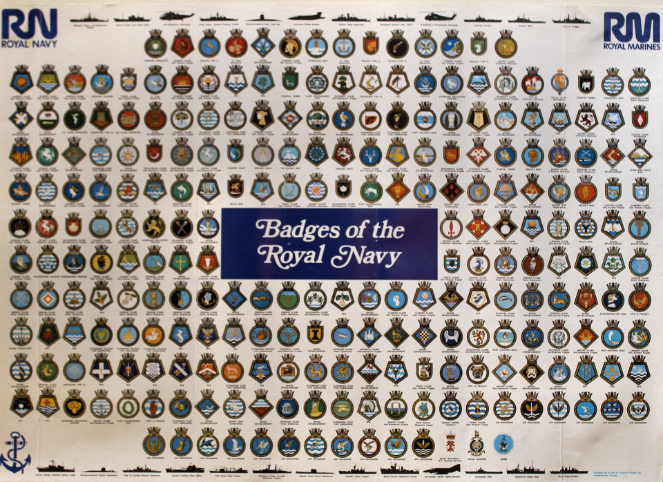 Badges of the Royal Navy Poster