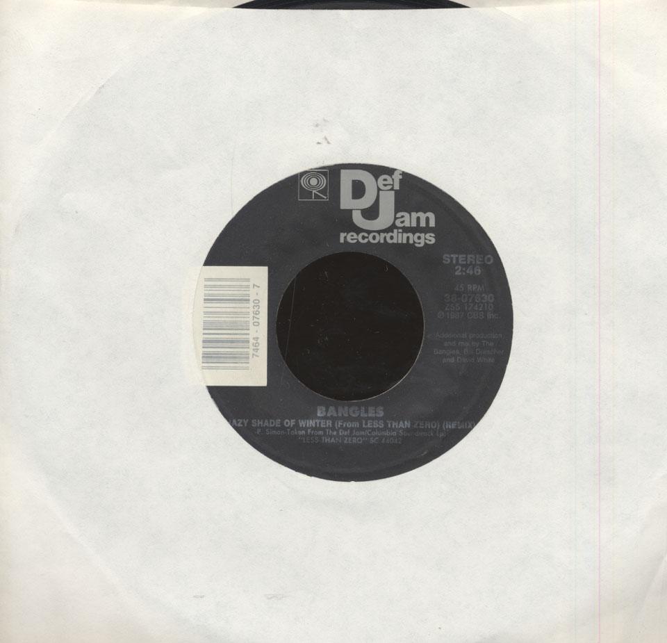 """Bangles / Joan Jett & The Blackhearts Vinyl 7"""" (Used)"""