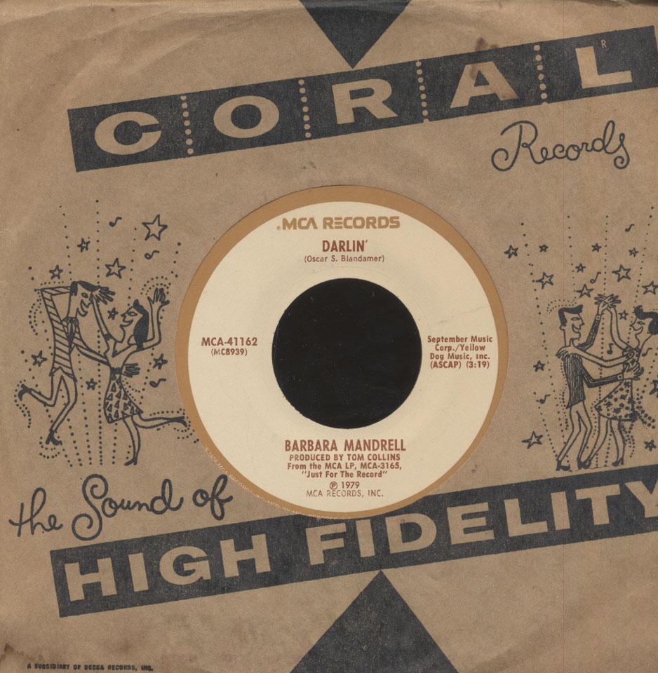 """Barbara Mandrell Vinyl 7"""" (Used)"""