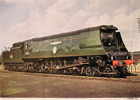 Battle of Britain Class 4-6-2 No. 34051 Poster